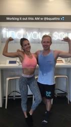 Jessica Alba at the Gym - 4/15/16 Snapchat Pic