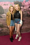 Olivia Holt & Peyton Roi List @ H&M loves Coachella Pop UP in Indio | April 15 | 2 pics