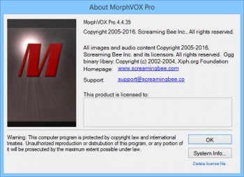 Screaming Bee MorphVOX Pro 4.4.39 Full Pack (EN)