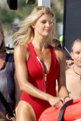 Kelly Rohrbach - Filming 'Baywatch' in Georgia 4/19/16