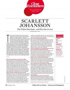 Scarlett Johansson in SFX Magazine July 2016 issue