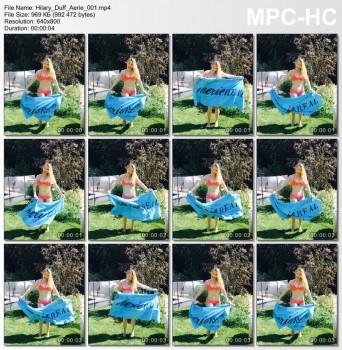 Hilary Duff - Promoting Aerie. Instagram clip