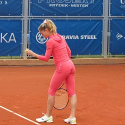 Camila Giorgi practice in tight pants x1