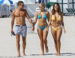 Devin Brugman and Natasha Oakley Wearing Bikinis at a Beach in Miami - 5/5/16