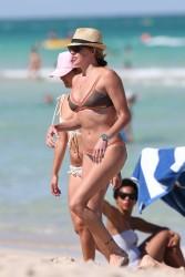 Katie Cassidy - Bikini Candids in Miami 5/8/16