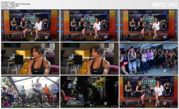 JACKIE GUERRIDO *workout cleavage* Primer Impacto 13 MAY 2016