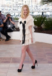 """Elle Fanning - """"The Neon Demon"""" Photocall at the 69th annual Cannes Film Festival 5/20/16"""