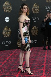 """Anne Hathaway - Premiere of Disney's """"Alice Through The Looking Glass"""" 5/23/16"""