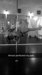 Francia Raisa on a Stripper Pole - 5/28/16 Snapchat Pic