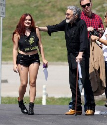 Ariel Winter on the Set of Dog Years in Nashville 6/3/16