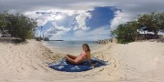 Nina Agdal, Irina Shayk and Hannah Davis - Virtual Reality Beach Experience SI Swimsuit 2016