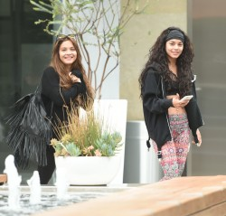 Vanessa & Stella Hudgens - Going to the gym in LA 6/14/16