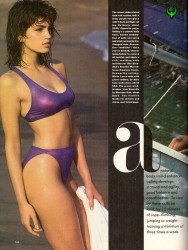 Cindy Crawford: Harpers Bazaar 1986: Swimwear: HQ x 2