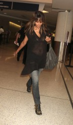 Halle Berry - Sheer To Bra Candids at LAX (6/22/16)