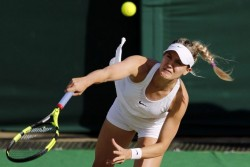 Eugenie Bouchard at Wimbledon 2016 x5