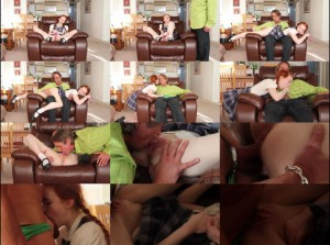 18yr Old Schoolgirl Takes A Daddy Creampie