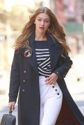 Gigi Hadid - On set of a photoshoot in NYC 7/12/16