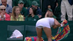 Dominika Cibulkova shows ass and legs after a Wimbledon match x15