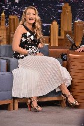 Blake Lively - On the Tonight Show in NYC 7/15/16