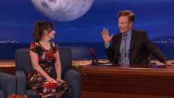 Zooey Deschanel on CONAN, May 2016 x34 plus video link