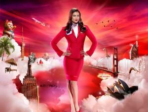 Lauren Mellor -                    Virgin Atlantic Promos.