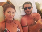 Jewel Staite (Ritchie) - honeymoon bikini top Instagram pic 26.7.2016 x1