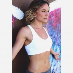 Briana Evigan in a sports bra 27th July 2016