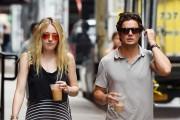 Dakota Fanning in Long Dress Out in New York July 30, 2016