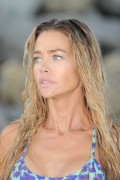 Denise Richards - Bikini Candids at the beach in LA 7/31/16