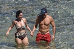 Katy Perry Wearing a Swimsuit at a Beach in Italy - 8/4/16