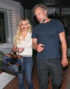 Jessica Simpson - Out for dinner in West Hollywood 8/17/16