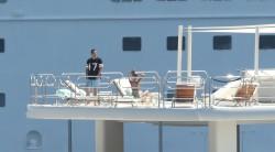 Sara Sampaio - On a yacht in St. Tropez 8/24/16