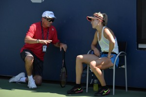 Genie Bouchard - practice session at US Open in NYC - 08/28/2016