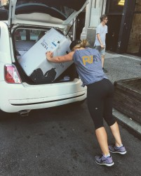 Hilary Duff Putting Boxes in Her Car - 8/31/16 Twitter Pic