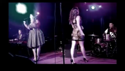 Haley Reinhart showing her amazing LEGS in concert
