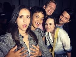 Nina Dobrev Getting Her Boobs Grabbed By Kiersey Clemons - 9/5/16 Instagram Pic