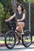 Selma Blair - Riding a bike in Los Angeles 9/5/16