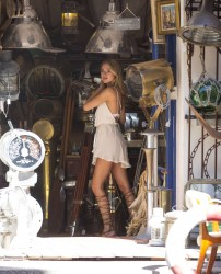 Kimberley Garner in Short Dress Shopping in St. Tropez - September 7, 2016 x30