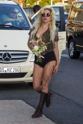 Lady Gaga at Schonefeld Airport in Berlin - 9/8/16