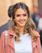 Jessica Alba - Arriving at The Late Show in NYC 9/8/16