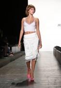 Hailey Baldwin - Jeremy Scott Fashion Show Runway & Backstage in NYC 9/12/16
