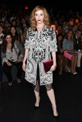 Christina Hendricks - Naeem Khan Fashion Show in NYC 9/14/16