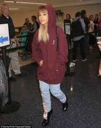 Ariana Grande - At LAX Airport 9/16/16