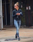 Nina Agdal - In Tights Leaving Soul Cycle in New York 9/14/16