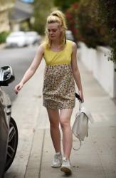 Elle Fanning - Leaving a friends home in LA 9/20/16