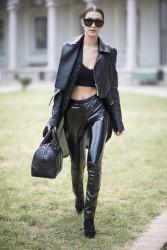Bella Hadid - Leaving the Alberta Ferretti Show in Milan 9/21/16