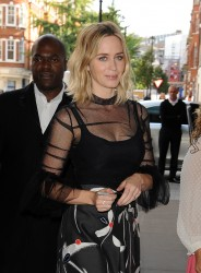 Emily Blunt - Arriving at BBC Radio Studios in London 9/21/16