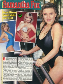 Samantha Fox: Late 80's German Magazine Scan: HQ x 1