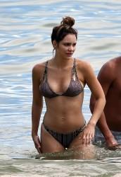 Katharine McPhee Wearing a Bikini at a Beach in Miami - 9/23/16