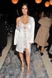 Kim Kardashian - Givenchy Fashion Show in Paris 10/2/16